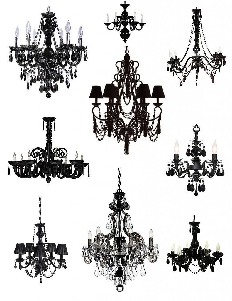 Elegant lamps in black