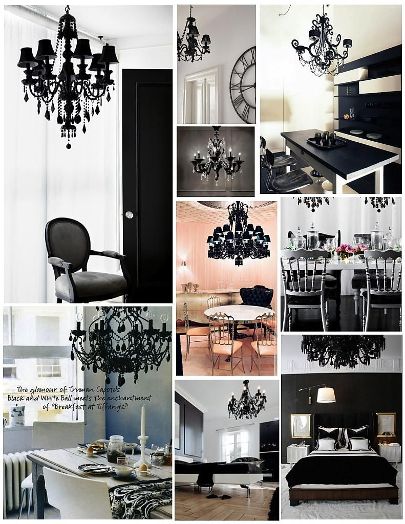 Creative lighting in black