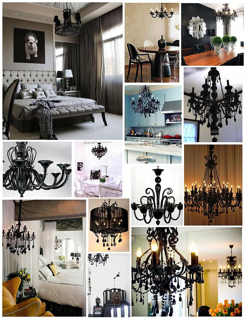 Unique lamps in black