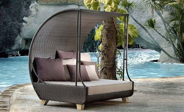 Garden Furniture - couch with a canopy