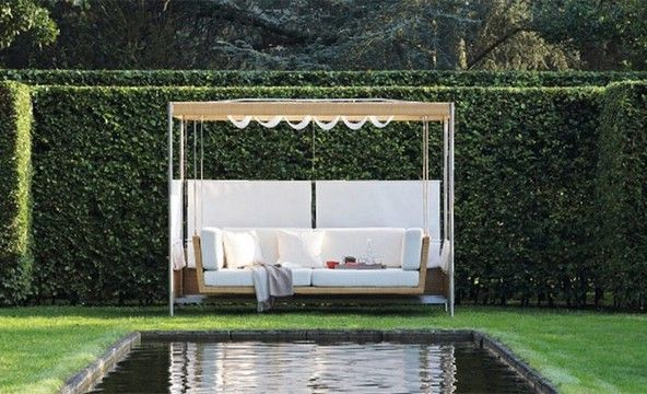 Garden furniture - sofa with a canopy