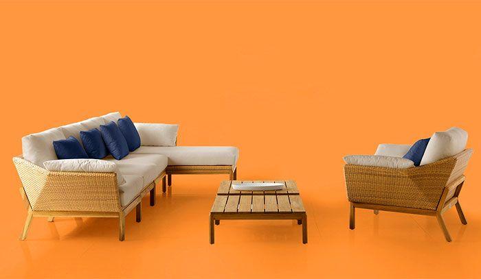 Открит градински мебели Валенсия Ратан