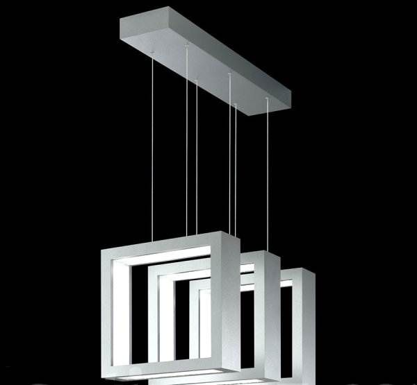 Rectangular luminaire for interior