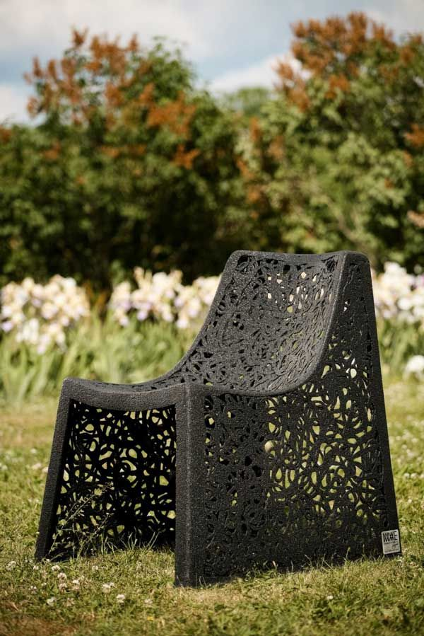 Elegant chair on the grass