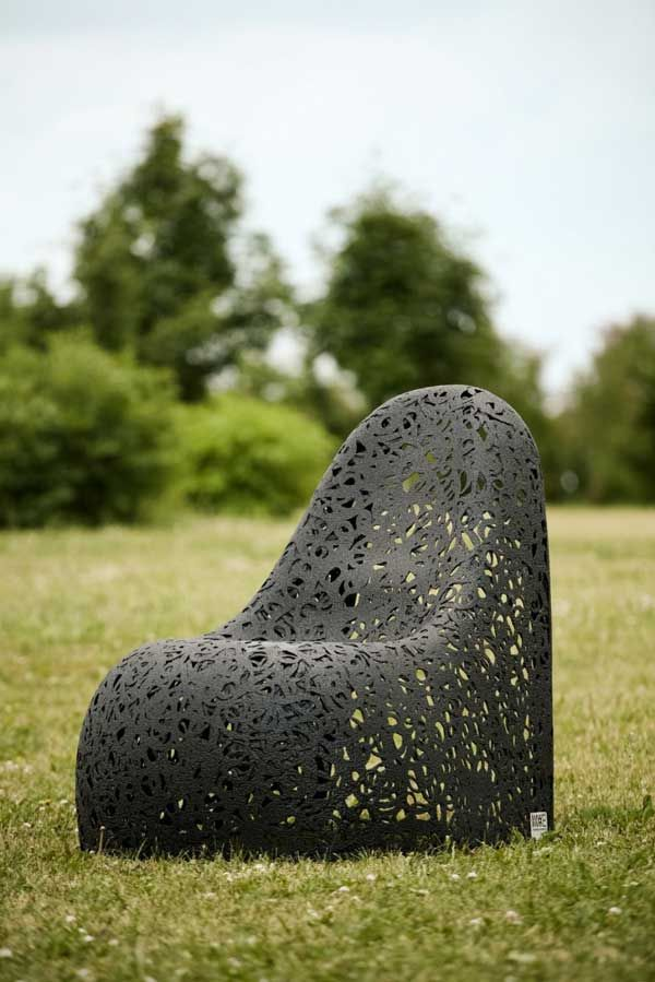 Amazing armchair on a background of nature
