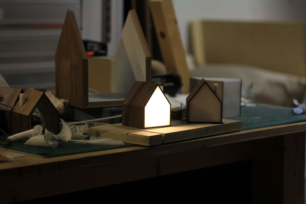 Table Lamp in the form of house