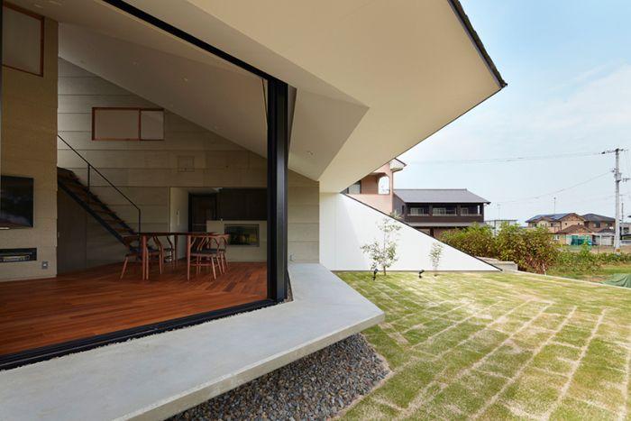 The ветрилообразни: необичайна къща с покрив навес