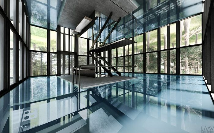 Villa Clessidra. Swimming pool on the second floor.