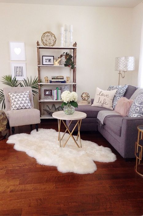 One of the best options is to create a cozy comfortable atmosphere in the tiny living room.