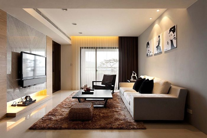 Small living room becomes a charming thanks to the correct selection of color design.