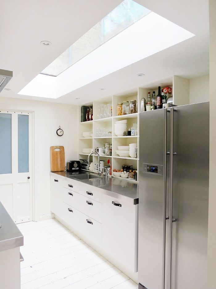 Natural lighting in the interior of the kitchen