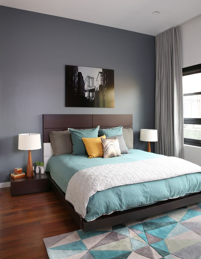 The choice of color for the bedroom
