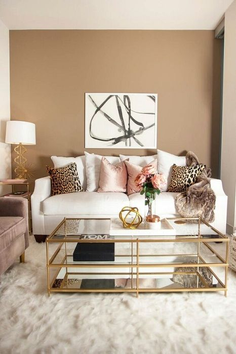 The best option to issue the living room with the addition of interesting decorative elements.