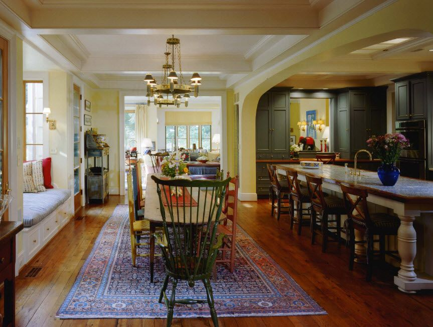 Eclectic Kitchen-Dining Room