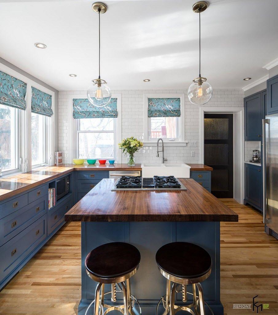 Деревянный стиль на кухне модерн, лофт и классик