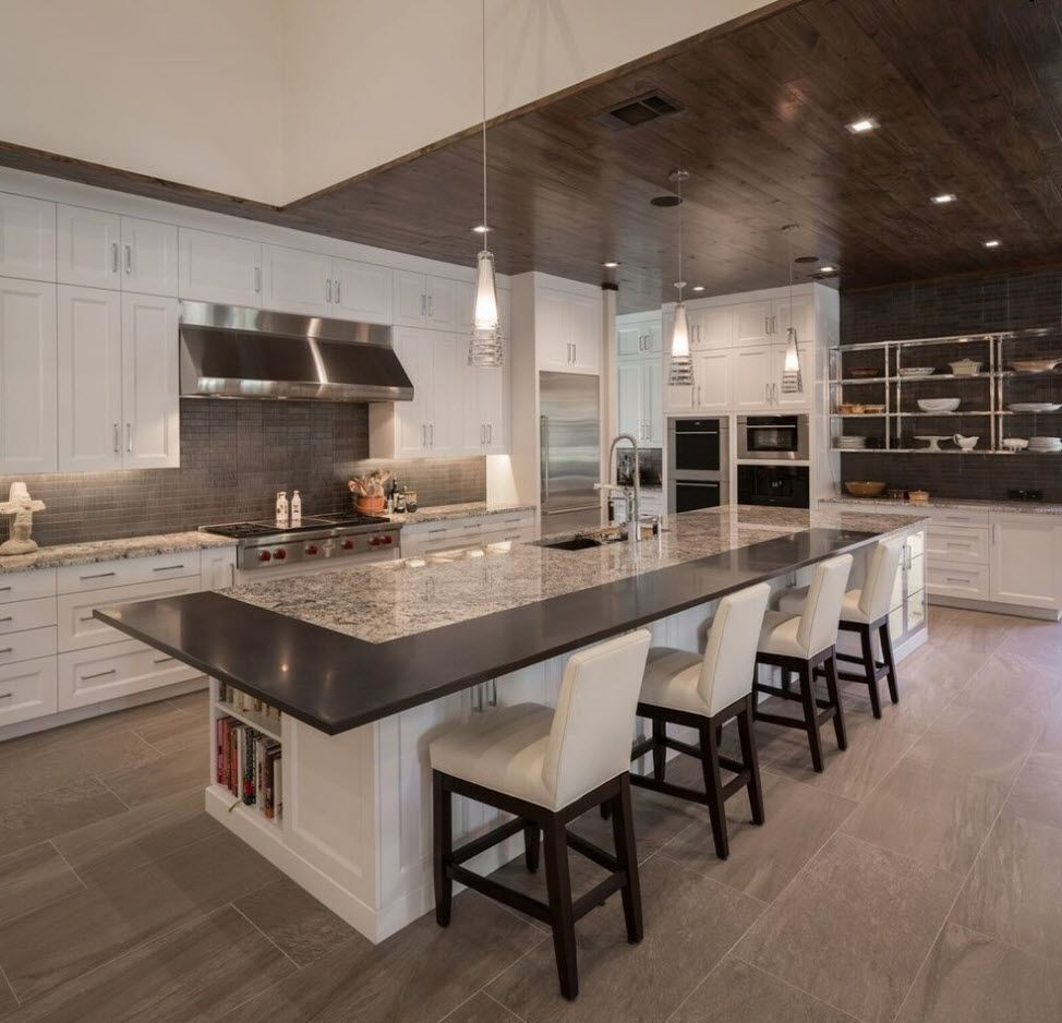 Spacious and stylish kitchen