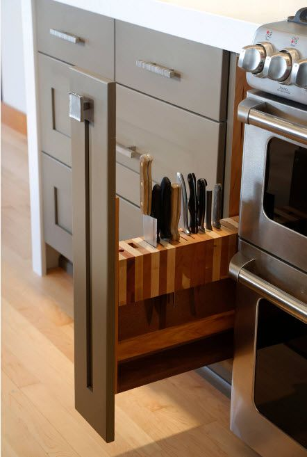 Storage in a modern kitchen