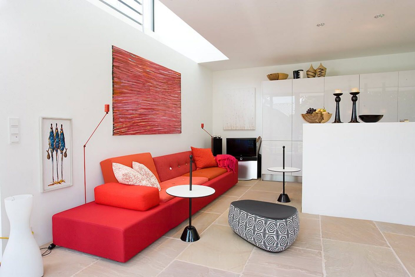 Bright sofa on a white background