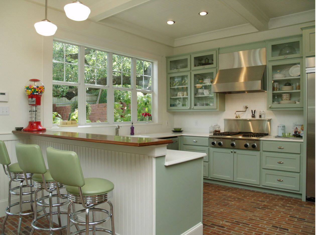 Kitchen in pastel colors