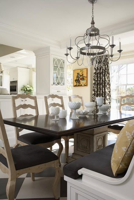 Above the dining table