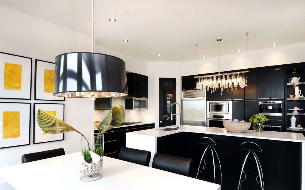 Pendant lamps in modern style