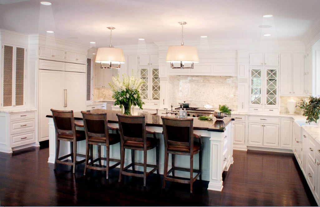For a spacious kitchen