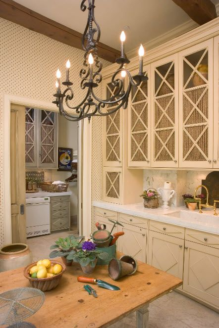 Drapery for kitchen cabinets