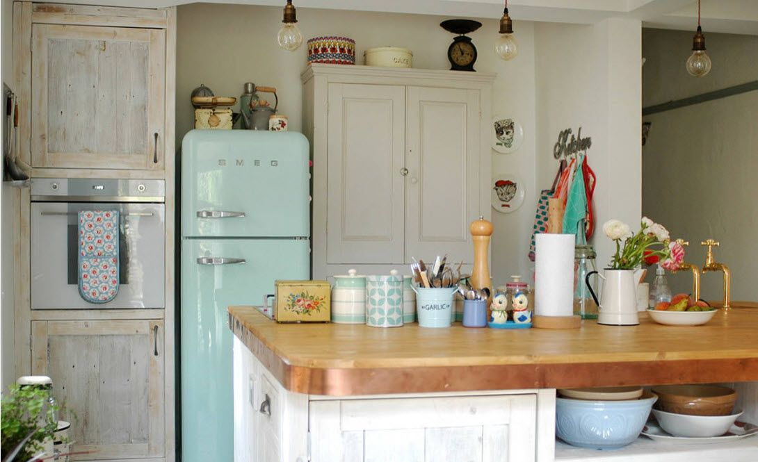 The game of contrasts in the kitchen space