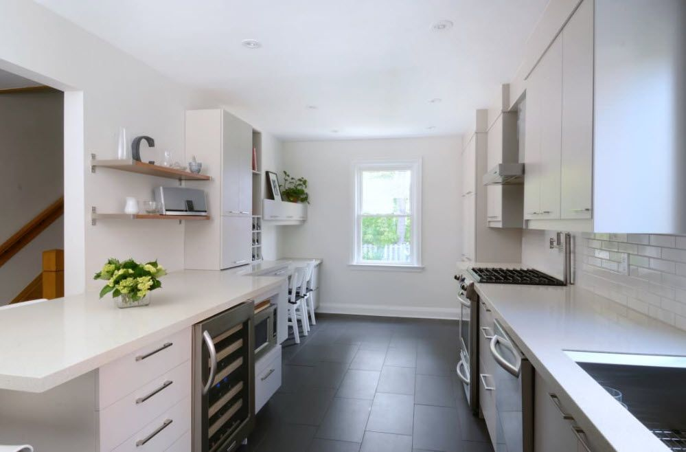 Open shelves for a small kitchen