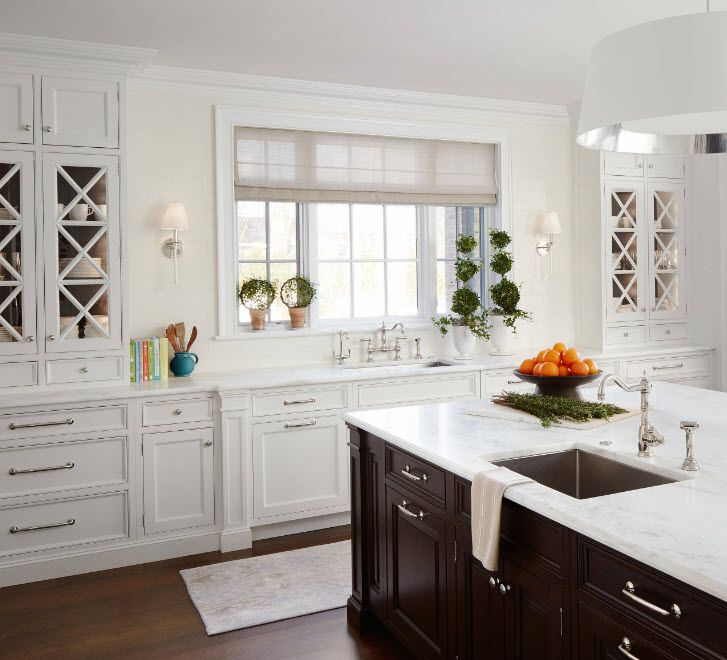 Open shelves in kitchen design
