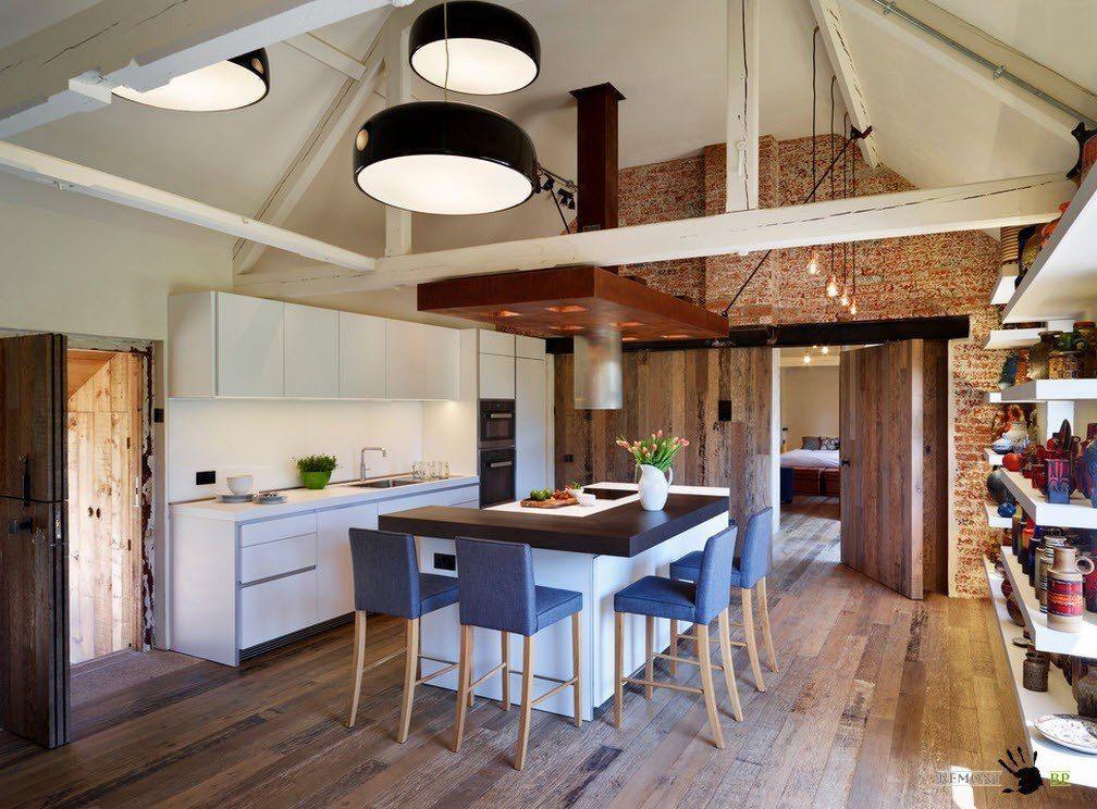 Kuchyn j delna 50 nejlep n pady a konstruk n mo nosti pl novat v fotografie for Barn conversion kitchen designs