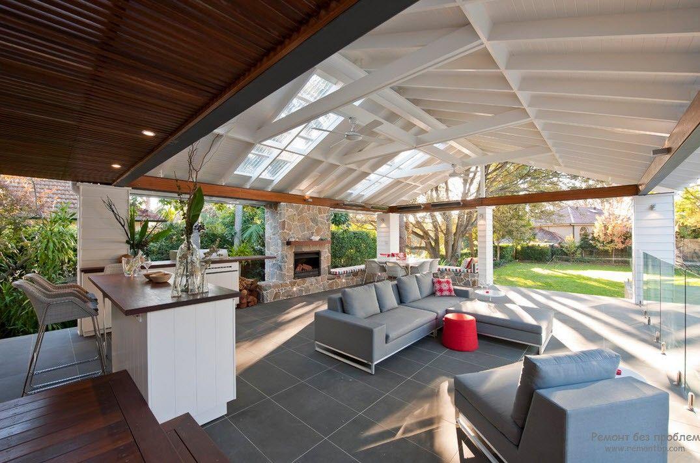 Модерният дизайн на беседката за двора и градината - Най-добрите идеи в снимката