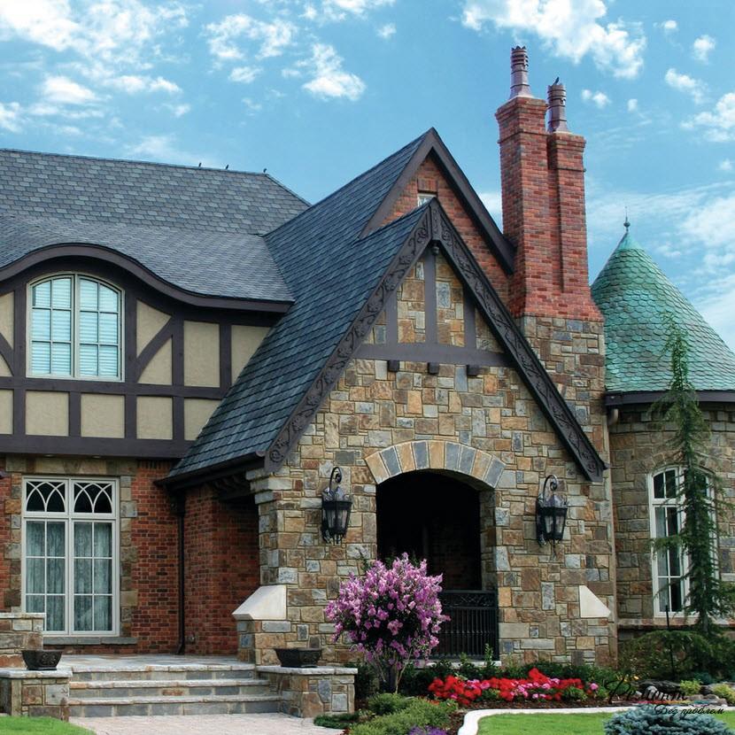 Къща в английски стил: външните и дизайн снимките