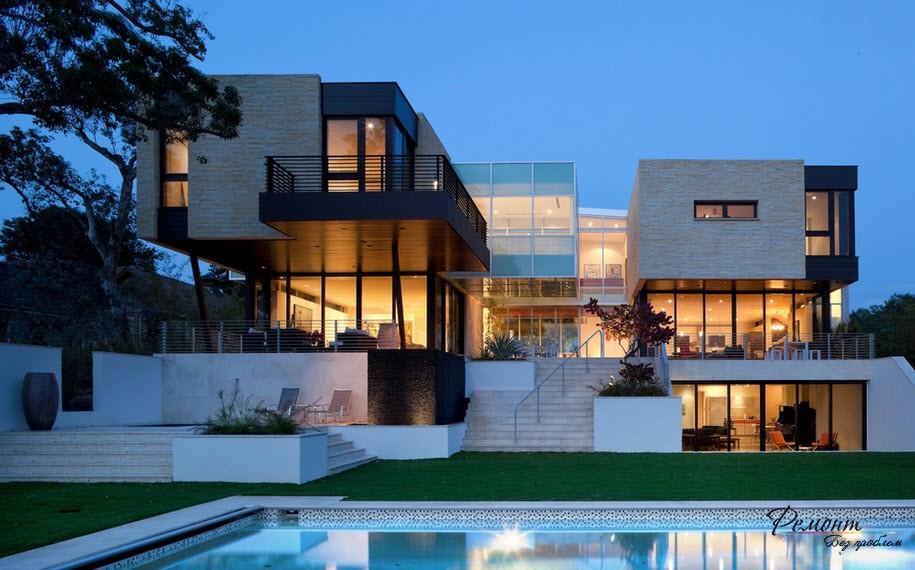 Дизайн на къща в стил на минимализъм: стилен екстериор фасада