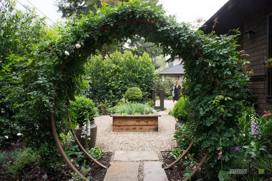 Arch with climbing plants