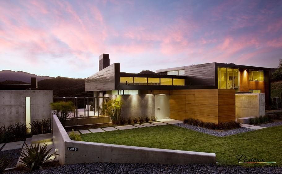 Красиви къщи с плоски покриви: стилен екстериорен дизайн, фотография