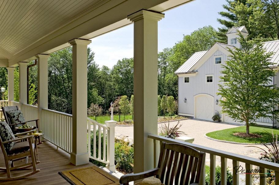 Луксозна къща в американски стил: фасадата и екстериорен дизайн, фото
