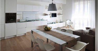 100 уютных идей для большого пространства: Кухня-гостиная 25 кв. м