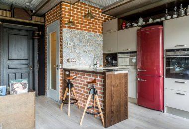 Кухня 6 кв. м с холодильником: множество вариантов красивого и функционального дизайна на фото