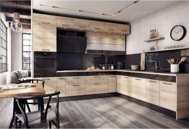 Как сочетать цвет фартука и кухонных фасадов