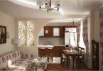 Kjøkken-stue med bar: originale interiørideer