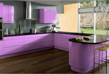 Lilac kitchen - inspirerende ideer i fotogalleriet