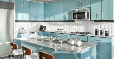 Blått kjøkken - en øy av fred i hjemmet ditt