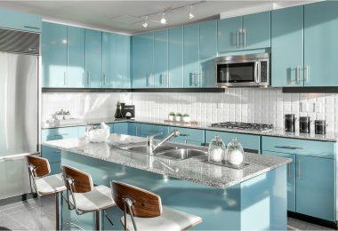 Голубая кухня — островок спокойствия в вашем доме