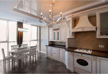 Натяжные потолки для кухни: фото-идеи привлекательного обустройства помещения