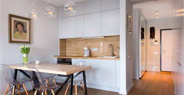 Kjøkken nisje i ulike deler av huset og leiligheten: interessante teknikker og triks av det ergonomiske interiøret