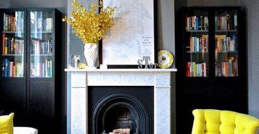 Peis i interiøret: 100 beste ideer til stuen