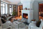 Камин в гостиной: стильные решения дизайна 2019