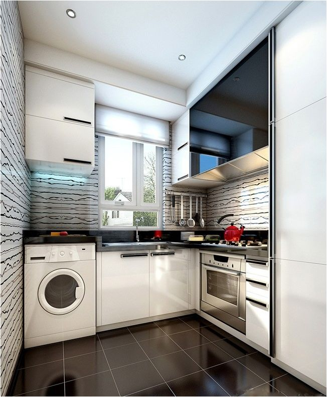 Washing machine in the kitchen: how to choose, tips and ideas-89