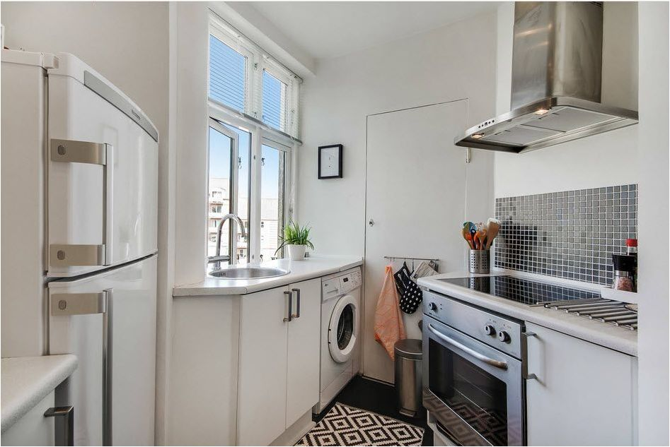 Washing machine in the kitchen: how to choose, tips and ideas-89999